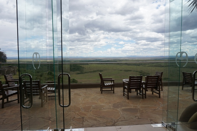 The view across the Mara from the lobby of the hotel
