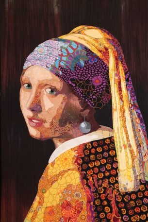 Vermeer Meets Fassett - by Lynn Czaban, Eugene, Oregon, USA