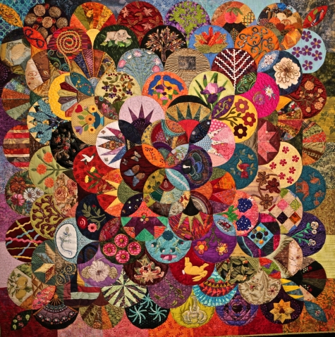 More is More, Debbie Geistweidt and 50 Vereins Quilt Guild Members, Doss Texas, USA