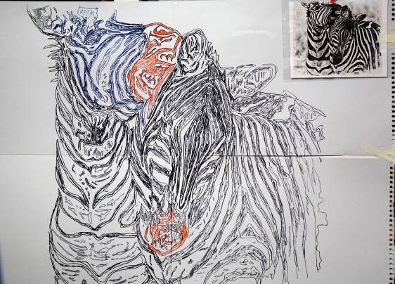 A drawing from a digital image from one of my photos