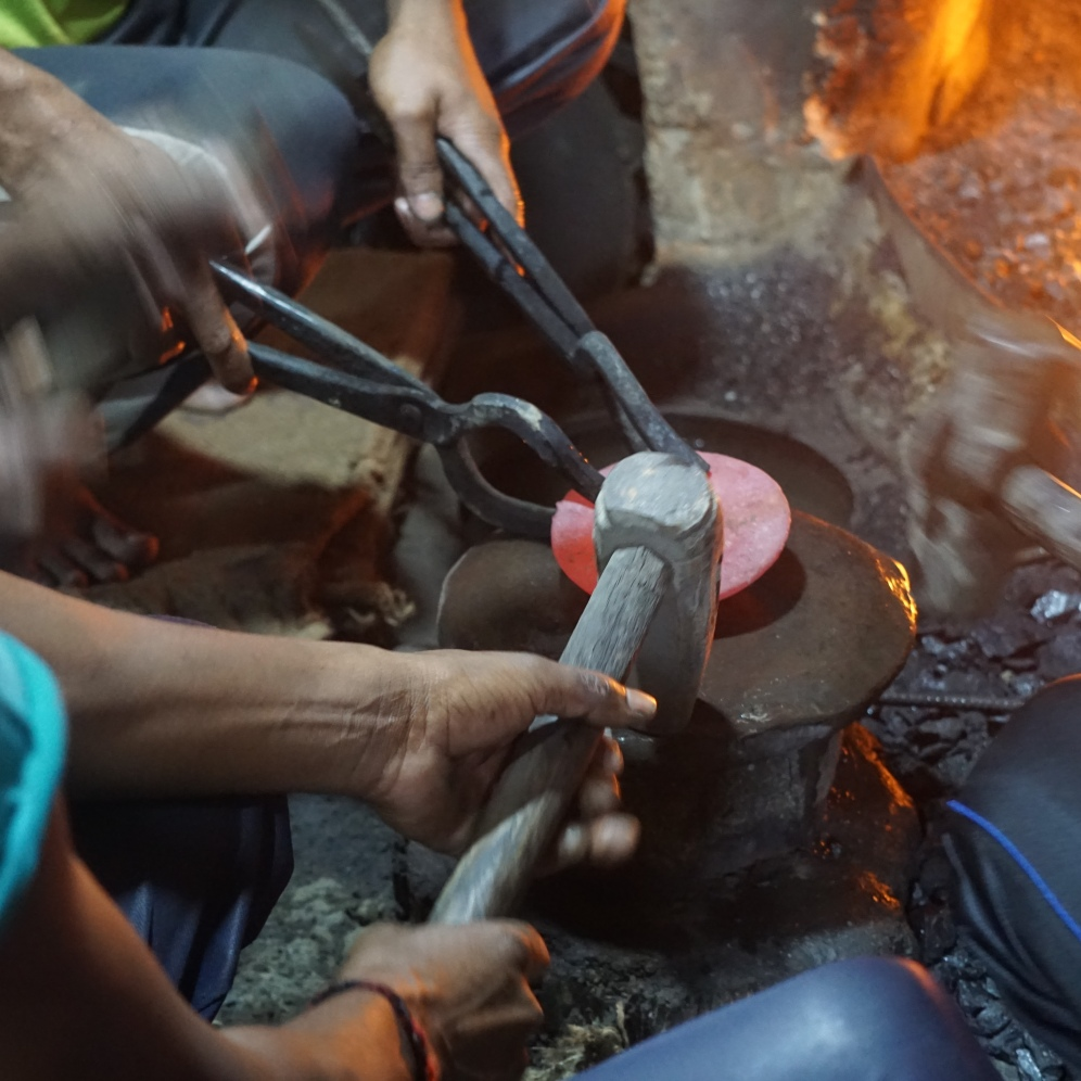 making the singing bowls.