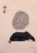 The Woman, quilting illustration.