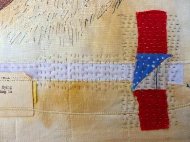 Slow stitching.